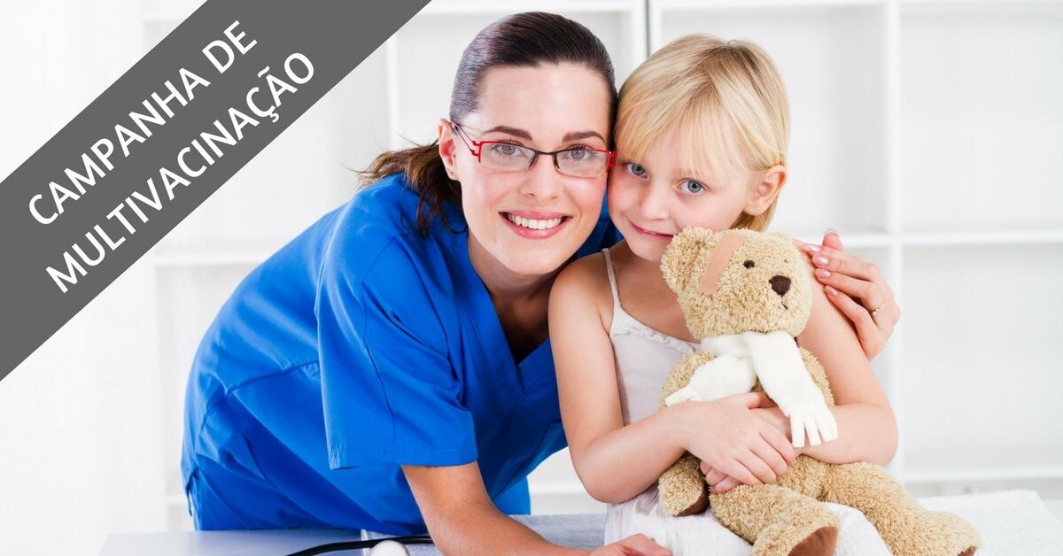Campanha de multivacinação terá todas as vacinas disponíveis pelo SUS!