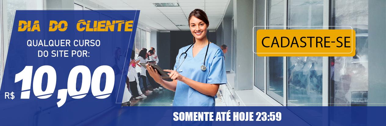 Promoção Cursos de atualização em Enfermagem.